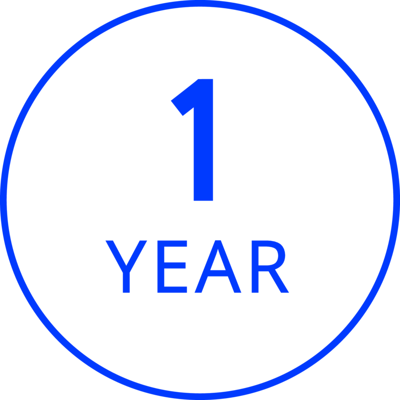 1 Year Limited Product Guarantee With Proof of Purchase