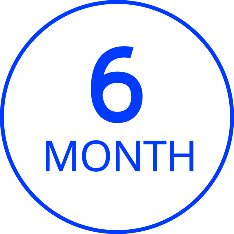 6 Month Limited Product Guarantee with Proof of Purchase